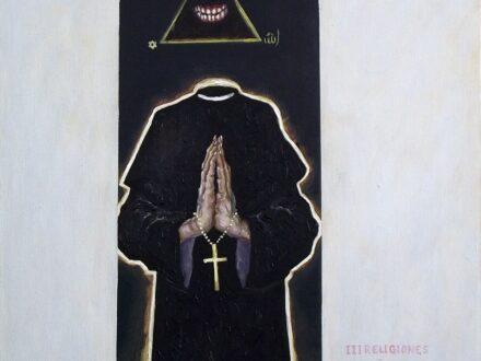 Bogdan Sassu, 2012, Devotio Moderna 2,ulei pe pânză, 40x40 cm[3772]