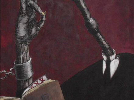 Bogdan Sassu, Ipocritul , 2012, acrilic pe pânză, 80x100cm[3774]