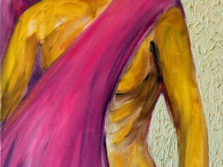 Claudia Ion, Galben, 2018, ulei pe pânză, 70x50 cm[3762]